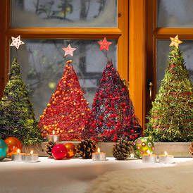 Weihnachtsdeko für die Fensterbank: Kleiner Winterwald                                                                                                                                                     Mehr