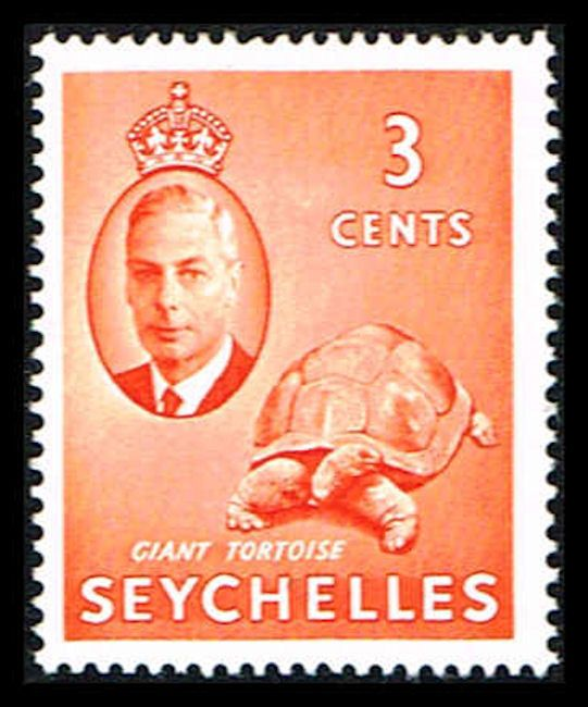 Seychelles 158 Stamp King George VI and Giant Tortoise IO SEY 158-1 (http://www.bmastamps2.com/stamps/island-nations/seychelles/seychelles-158-stamp-king-george-vi-and-giant-tortoise-io-sey-158-1/)