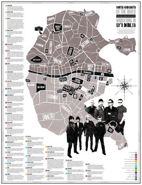 North And South Of The River - Drawn From Memory: Wandering in U2's Dublin by AmpVisual