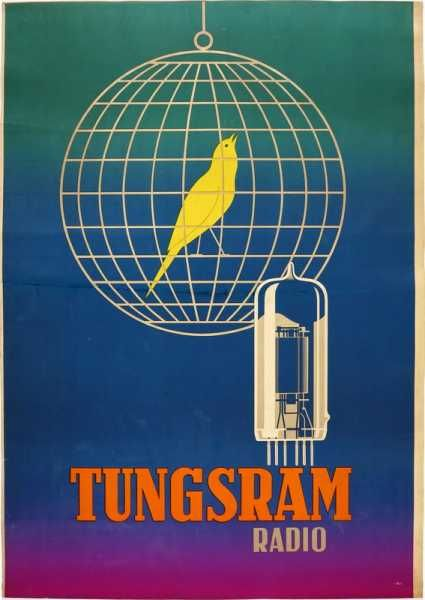 Tungsram Rádió retro plakát poster