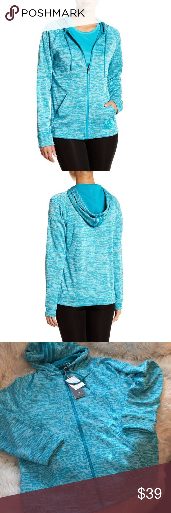 Adidas zip hoodie Ladies relaxed fit hoodie. Style 2street fz hdy. Color teal. adidas Tops Sweatshirts & Hoodies