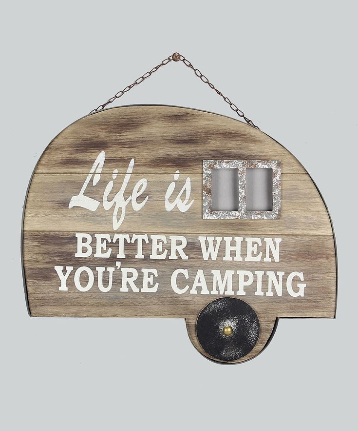 Look at this Wood Camper Sign on #zulily today!