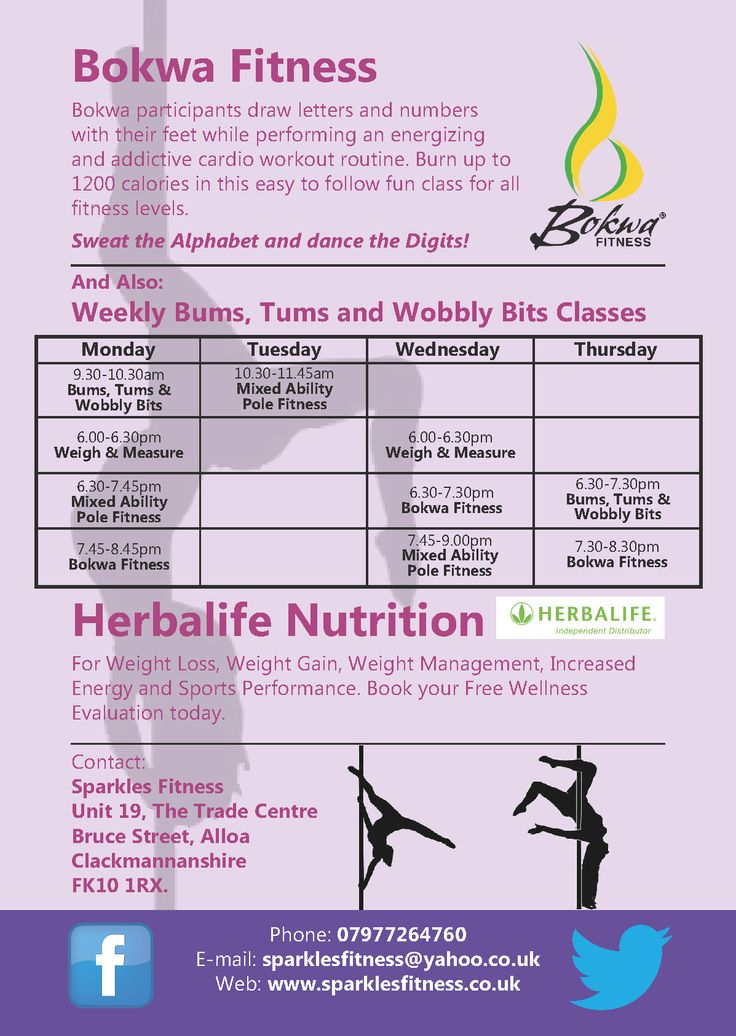 Sparkles Fitness promotional flyers designed and printed.