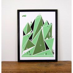Mountain Hiking Print 18x24, $35, now featured on Fab.
