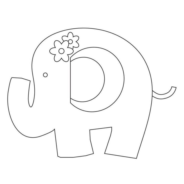 Шаблон слон для открытки, ульяне