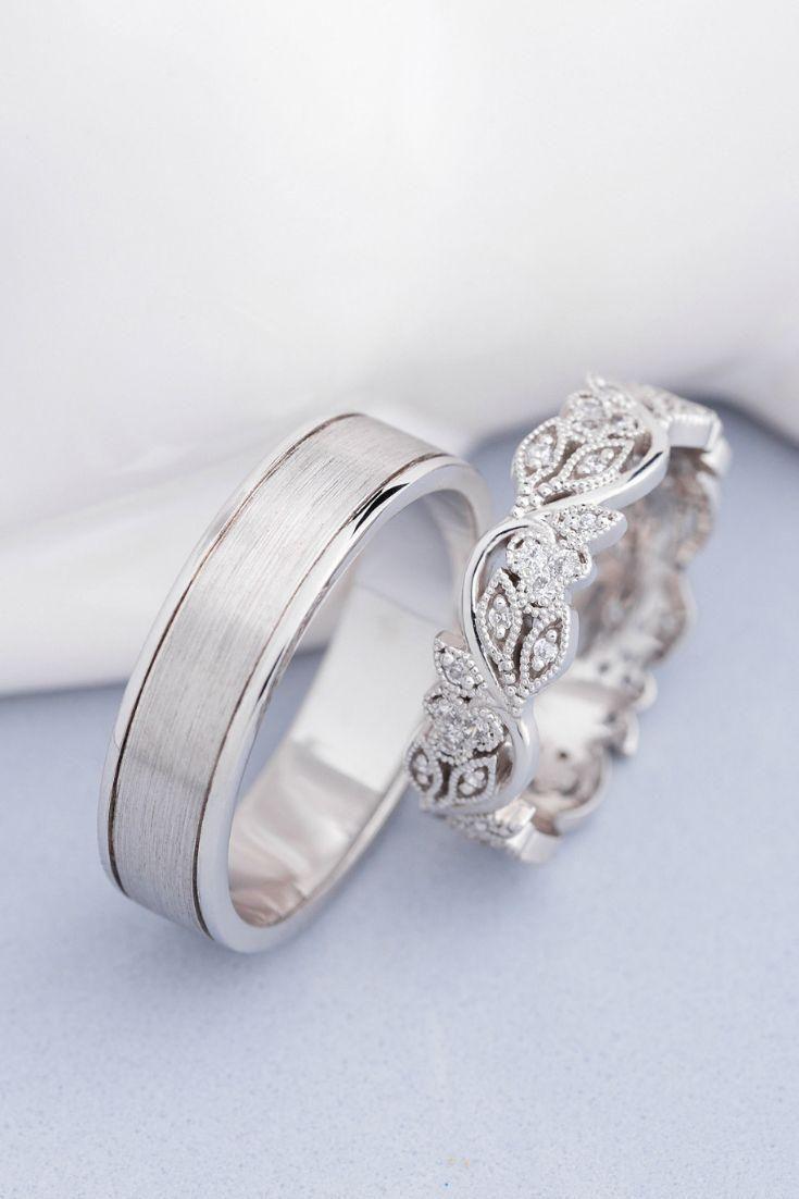 Bands Eheringe Eingestellt Einzigartige Hochzeit Hochzeitsbander Seine Ihre Hoc Wedding Ring Sets Unique Cool Wedding Rings Couple Wedding Rings