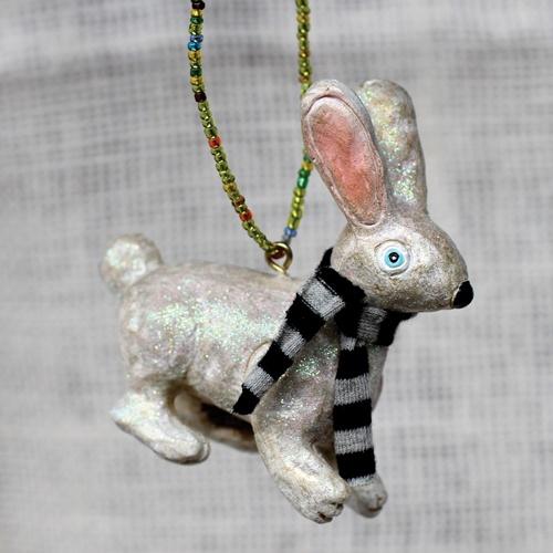 Sir Hop Bunny Ornament $10