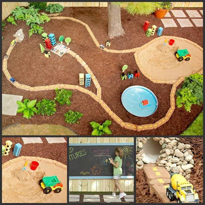 back yard play area