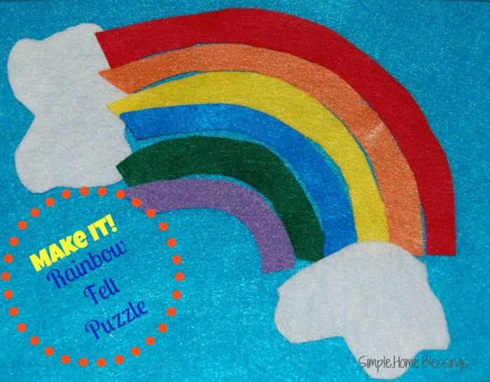 Make It_ Rainbow Felt Puzzle for toddlers, simple, no pattern needed, just follow this quick tutorial