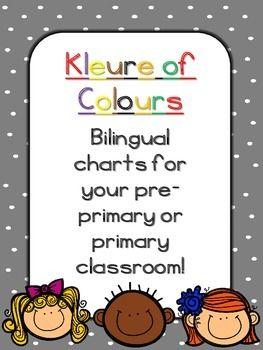 Afrikaans/English colours printables