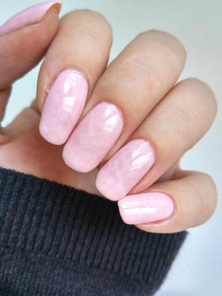Rose Quartz Nails - surprisingly easy to do!