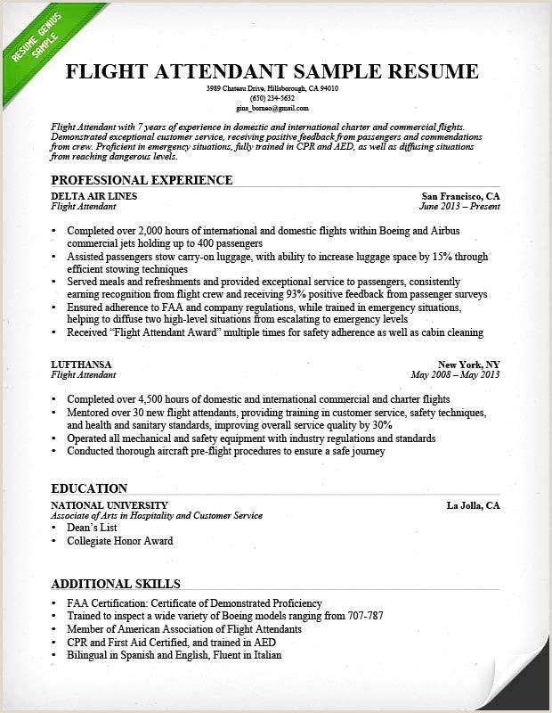 Exemple De Cv Avec Certification In 2020 Sample Resume Cover Letter Flight Attendant Resume Cover Letter For Resume