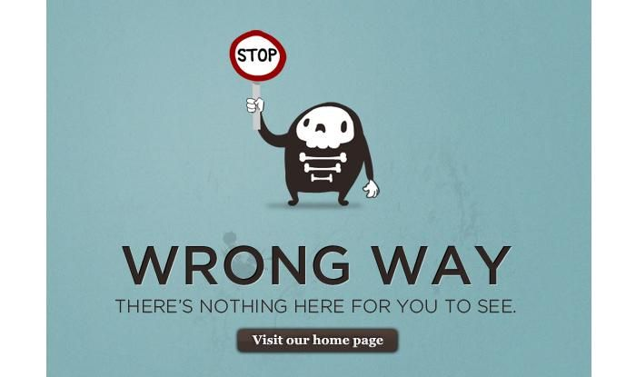 404 error pages