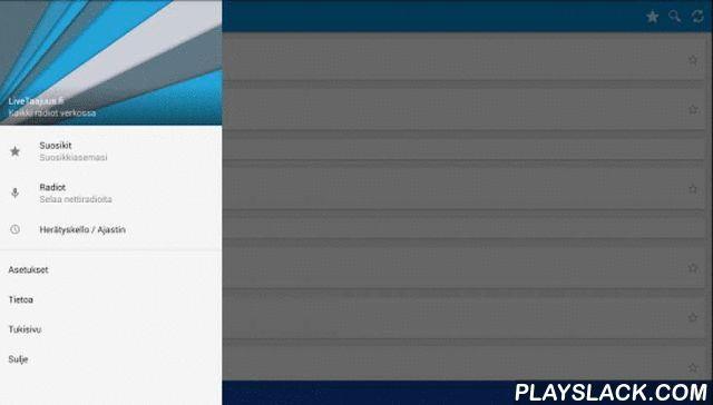 Nettiradio  Android App - playslack.com , Kaikki suomalaiset nettiradiot - Suomen suosituin ja laajin radiosovellus!Nettiradio –sovelluksella voit kuunnella yli 100 suomalaista nettiradiota verkkoyhteyden kautta missä ikinä liikutkin! Täysin suomalainen radiosovellus, josta löydät Suomen suosituimmat asemat sekä myös vähän tuntemattomammatkin suomalaisnettiradiot selkeästi listattuina. Uusia asemia lisätään säännöllisesti.Nettiradio on erittäin nopea ja kevyt sekä käyttöliittymältään hyvin…