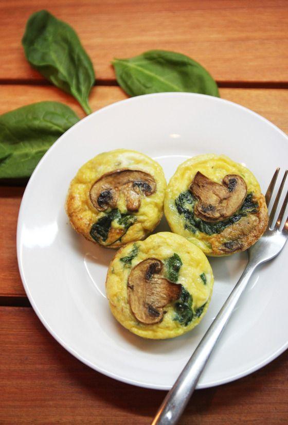 Mushroom Spinach Quiche Cups | Brunch-Breakfast | Pinterest