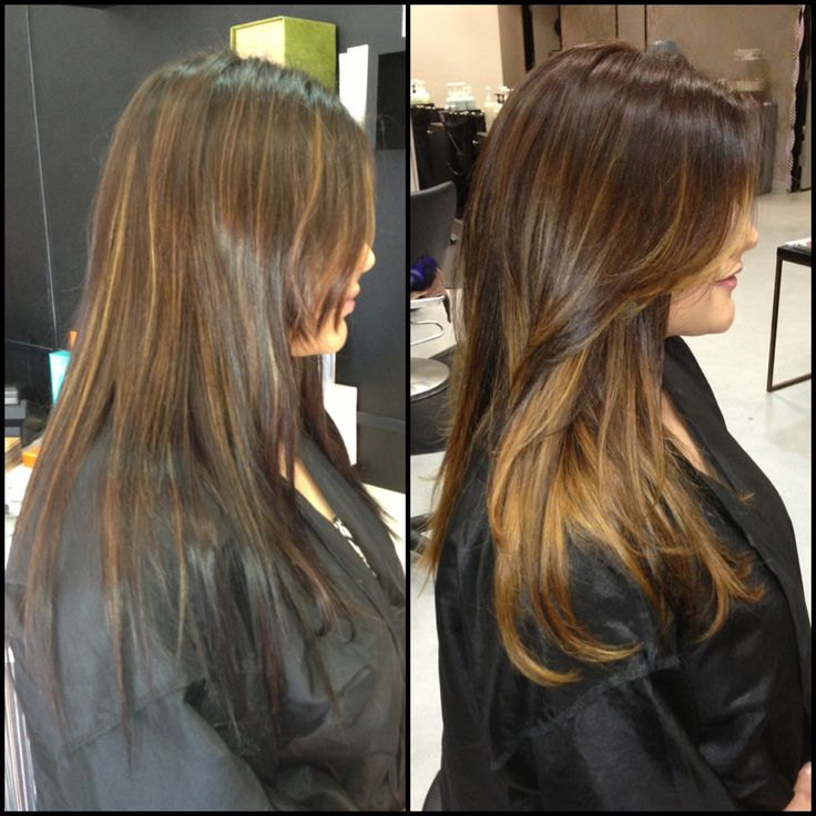 Dark Golden Brown To Caramel Balayage  Balayage By Briza  Pinterest  See B