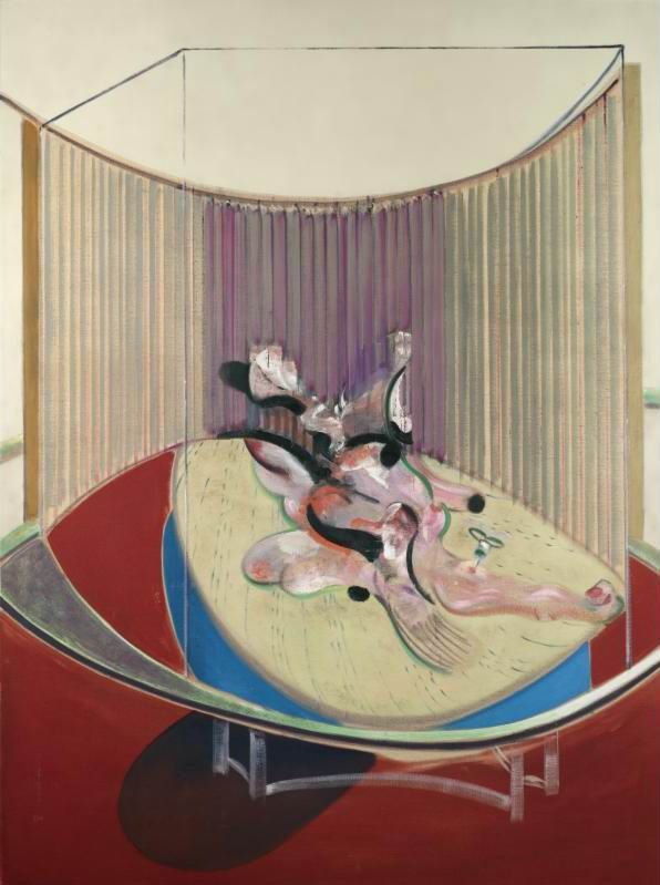 Lynn Kirkpatrick's sestina alludes to this: Lying figure with hypodermic syringe - Francis Bacon