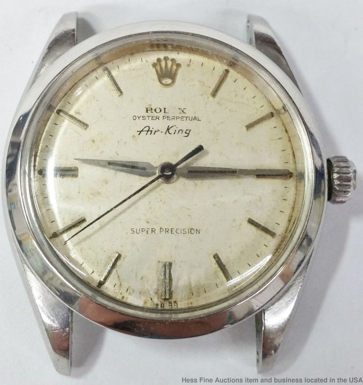 Rolex Air King 5500 Stainless Steel Super Precision 25 Jewels Mens Wrist Watch #Rolex #Casual