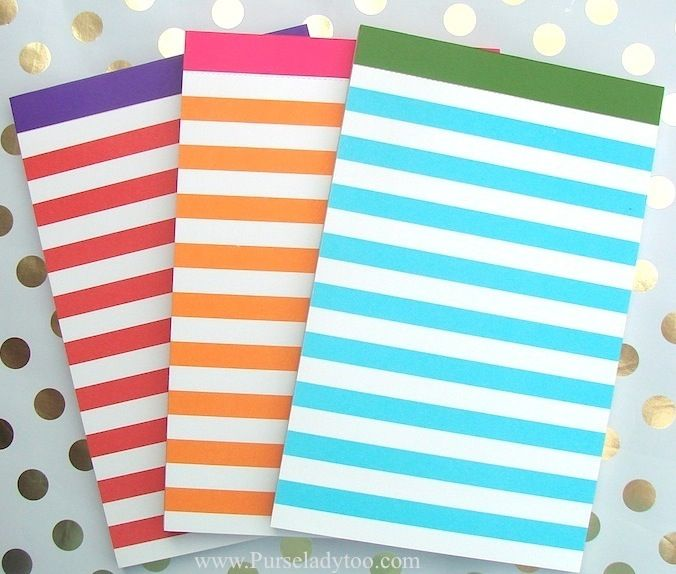 Kate Spade   Set Of 3 Preppy Notepads   Http://www.purseladytoo