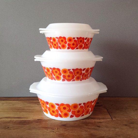 Arcopal Lotus Casseroles / Oven Dish With Lid Set