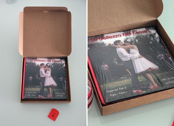Dall'Engagement Book di A. e F., il racconto del finale e le foto del libro e del suo packaging!