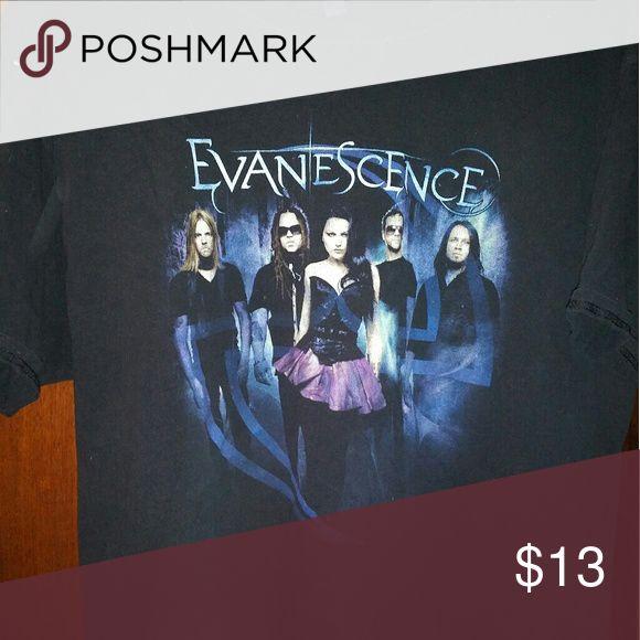 Evanescence's band shirt Lg Rock band T shirt New used no