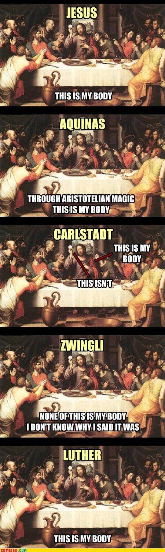 communion. #lutheran #humor #communion