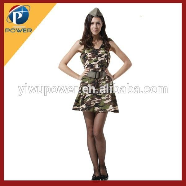 Yiwu OEM Cheap Sexy Army Costume For Women