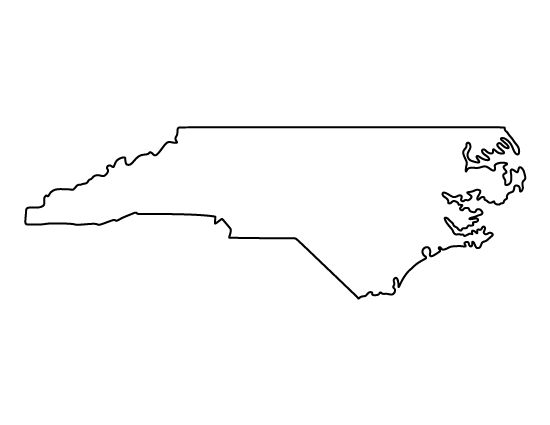 North Carolina pattern. Use the printable outline for crafts, creating stencils, scrapbooking, and more. Free PDF template to download and print at http://patternuniverse.com/download/north-carolina-pattern/
