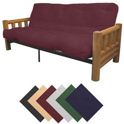@Overstock - Futon set offers a distinctive cabin lookFurnishing is the perfect sofa during the day and the perfect bed at nightSplendor futon mattress is ideal for individuals who prefer medium to firm sitting and sleepinghttp://www.overstock.com/Home-Garden/Yosemite-Full-Rustic-Lodge-Frame-Splendor-Mattress-Futon-Set/4348686/product.html?CID=214117 $404.49