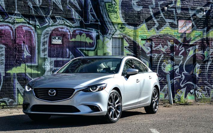 Download wallpapers Mazda 6, 4k, graffiti, 2018 cars, sedans, Mazda6, japanese cars, Mazda