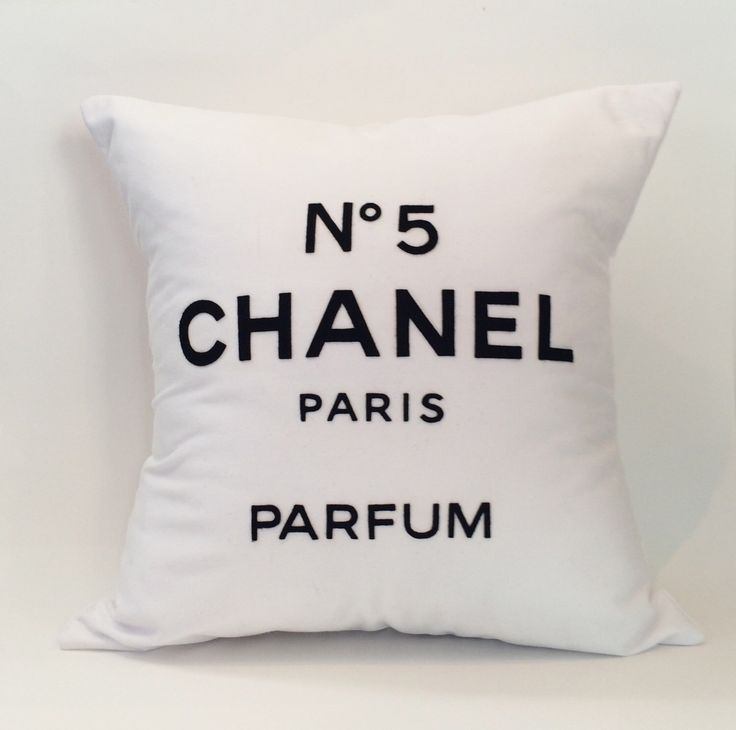"""18""""X18"""" Chanel No 5 Paris Perfum Pillow Cover by PlumPerfection on Etsy https://www.etsy.com/listing/266263290/18x18-chanel-no-5-paris-perfum-pillow"""