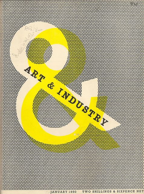 Hard to beat a well-purposed overprint.    Art & Industry magazine cover designed by Zero (Hans Schleger) 1950