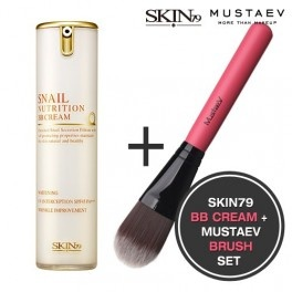 BB Cream + Pinceau : [SKIN79,MUSTAEV] SNAIL Nutrition BB Cream 15g + Foundation Brush - Wishtrend USD32.80