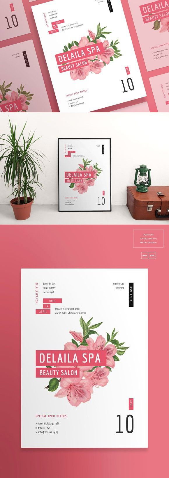 Posters | Delaila Spa. Flyer Templates