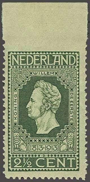 Netherlands 2½ cent donkergroen tanding 11½ x 11 met variëteit bovenzijde ongeperforeerd, pracht ex. met certificaat Vleeming 2013, cat.w. 400  Lot cond...