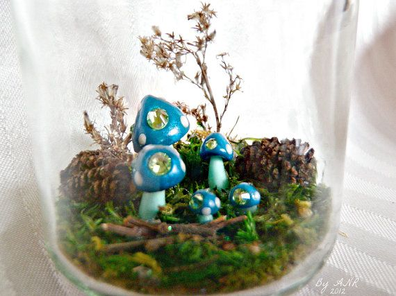Lexi's Woodland Preserves Faery Ring Edition No. 5! Designed, assembled, & sculpted with polymer clay & embellished with genuine Swarovski crystals by Amanda Ramey, $45.00