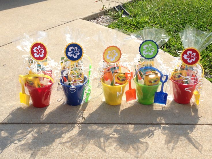 Door Prizes For Back To School Luau Kickoff Sand Pails