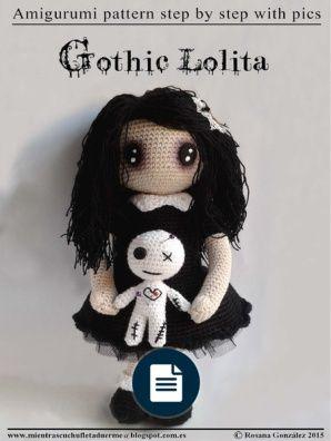 Gothic Lolita With Voodoo Doll - Rosana Gonzalez [Crochet Pattern]