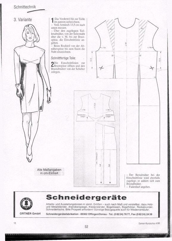 Mejores 1127 imágenes de Vestidos en Pinterest | Ropa, Coser y Falda ...