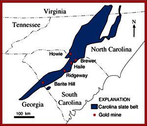 north carolina GOLD | Carolina Slate Belt Gold Deposits in Virginia, North Carolina, South ...