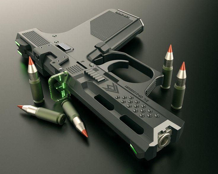 ArtStation - Submachine GUN High cap, Alex Penescu