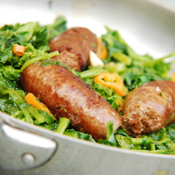 Sausage & Rapini:  If you have some leftover, this works great as a sandwich!  From Made In Italy