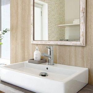 気持ちのいい朝を迎えよう!洗面所の壁紙の賢い選び方」 【壁紙専門店 ... こちらはナチュラルな木目の壁紙です。洗面台が木目だったり床がフローリングの洗面所には相性がいいと思います。高級感もありますし失敗のない壁紙だと思います。