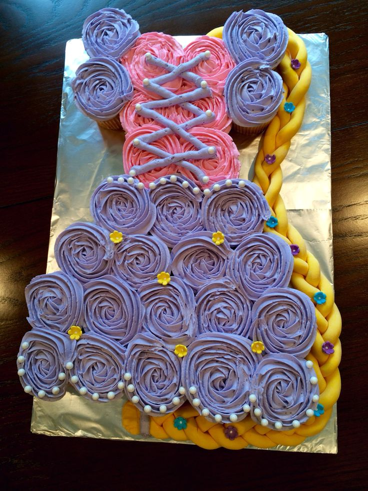 Rapunzel cupcakes. Chely's cupcakes.