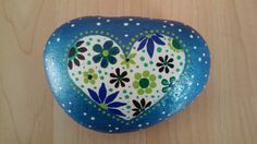 Painted rock - Heart!!
