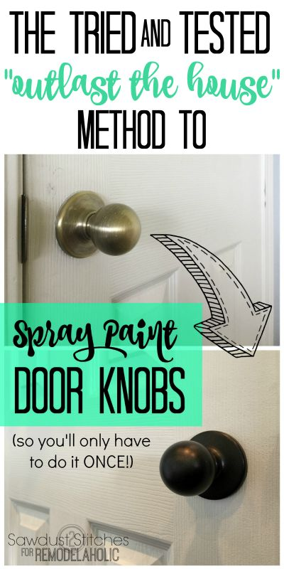 How To Upgrade Door Knobs With Spray Paint The Tried And