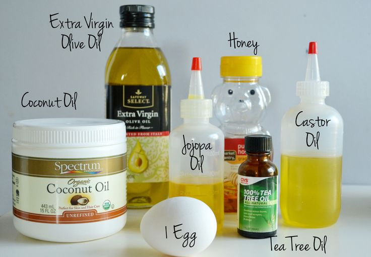 Ingredients for the perfect protein treatment for all hair types; How to apply a Coconut Oil Hair Mask | via Spark & Chemistry