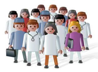 De mayor quiero ser un click de playmobil: Continúan las concentraciones del personal sanitario.