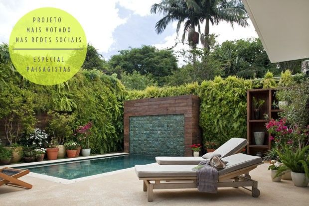 1000 images about piscinas on pinterest decks for Paisagismo e jardinagem piscina
